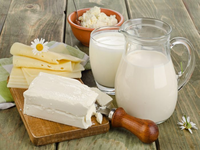 Молочные продукты при приеме Де-Нола