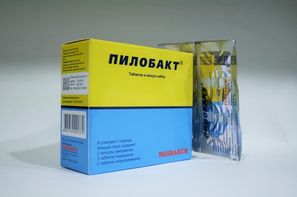 Пример препарата Пилобакт