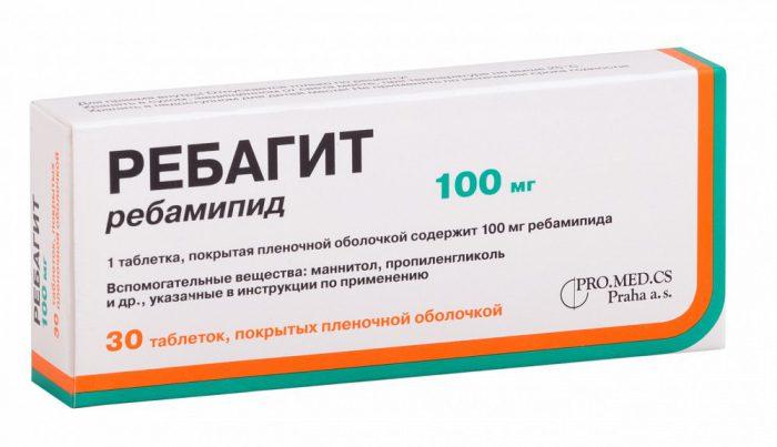 Пример препарата Ребагит